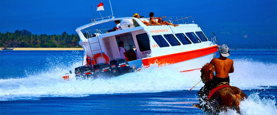 Fast Watercraft From Bali To Gili & Bali To Gili Islands boat-and-horse